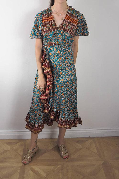 Re-Sari Wrap Dress 10 - 8-12UK