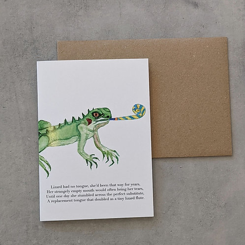 Party Lizard Card