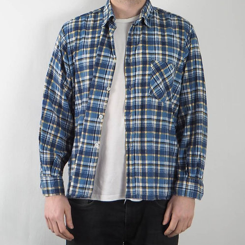 Vintage Blue Checked Shirt - S