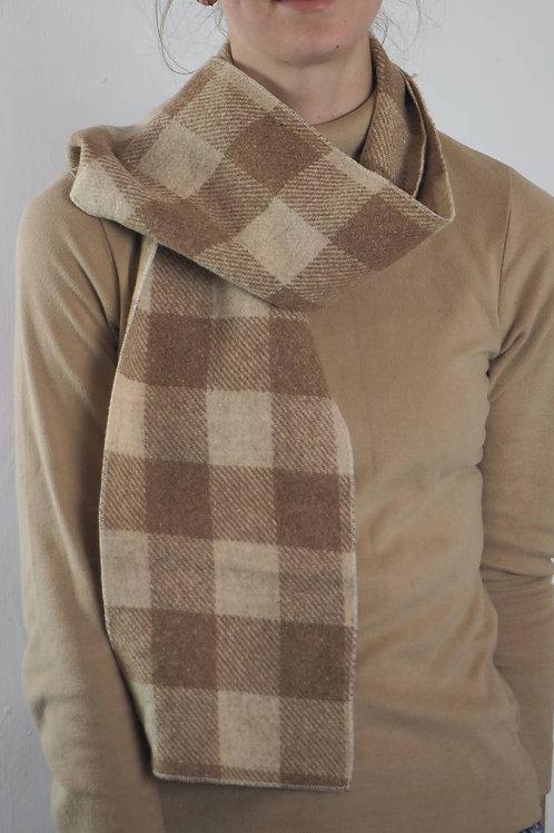 Vintage Brown Wool Scarf