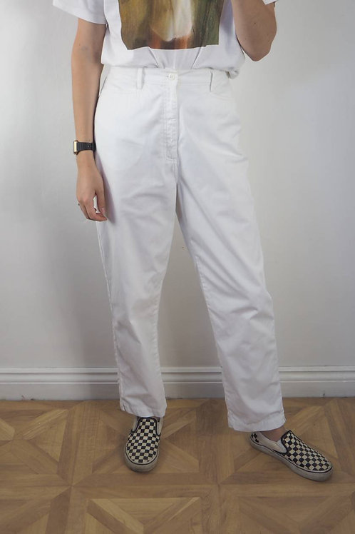 Vintage White Casual Trousers - 12-14UK