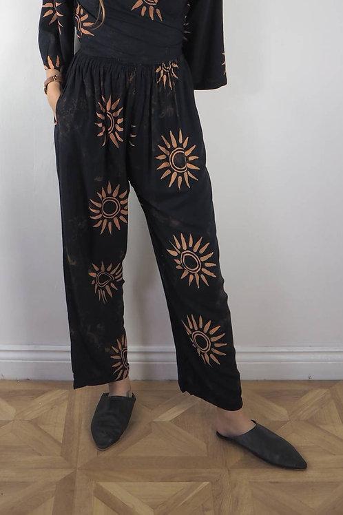 Fair Trade Sun Print Trousers - 8-14UK