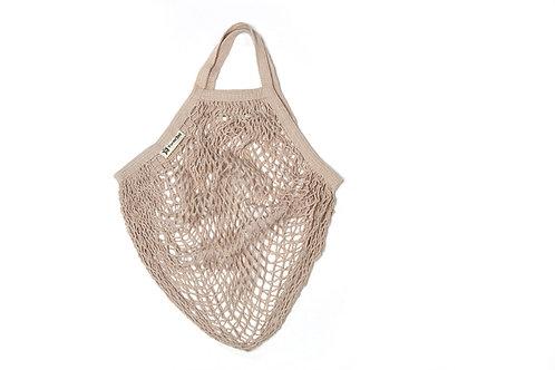 Organic Short Handle String Bag - Mushroom
