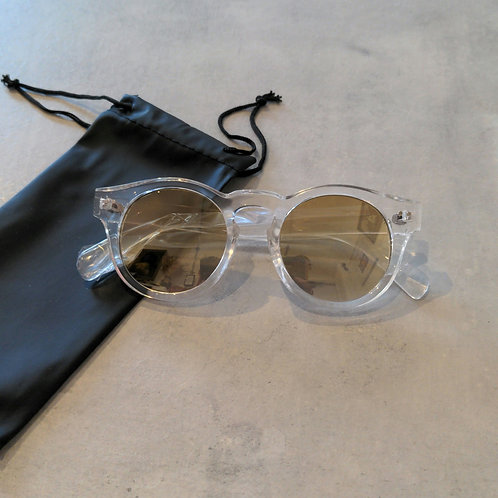Round Clear Frame Sunglasses