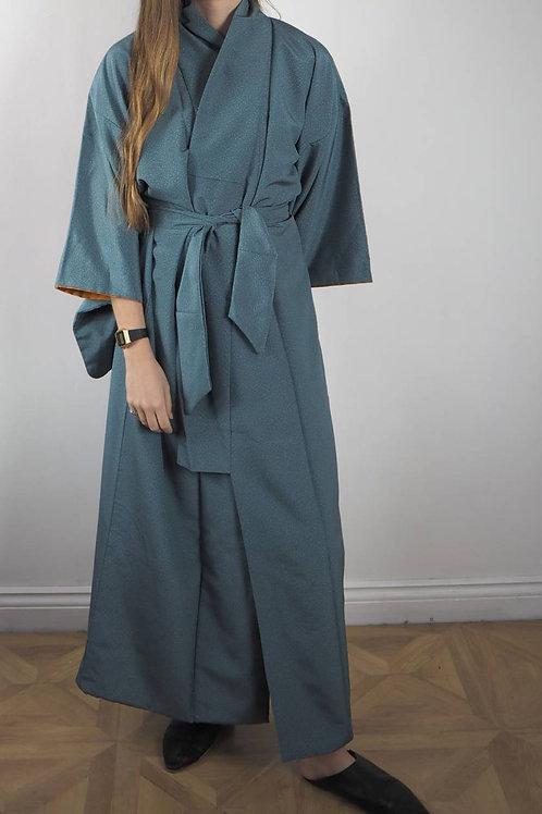 Vintage Blue Pool Kimono - 8-18UK
