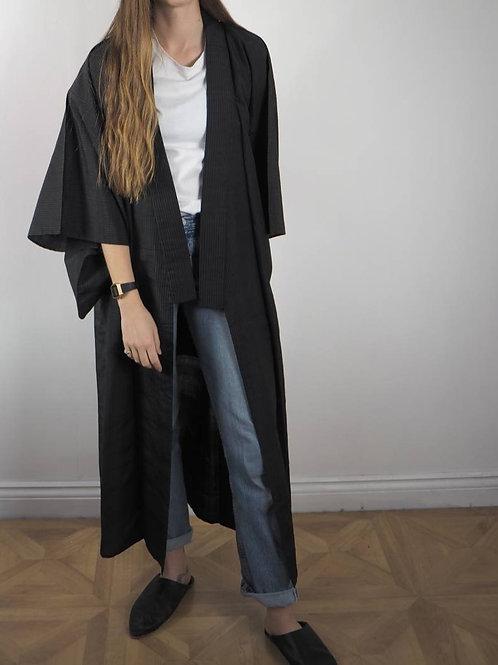 Vintage Black Striped Kimono - 8-18UK
