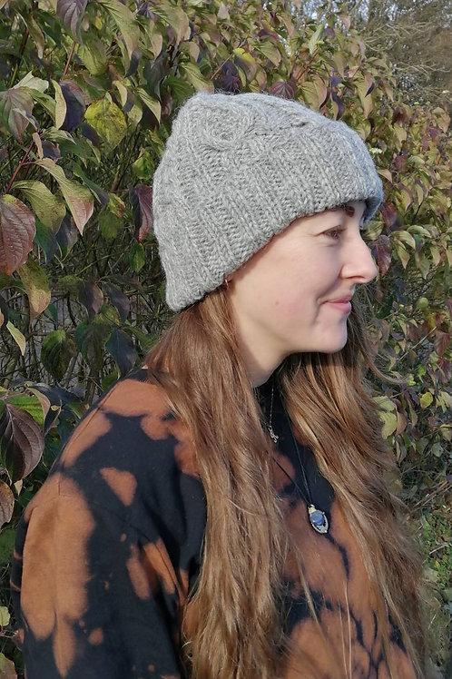 Fair trade Grey Wool Beanie Hat