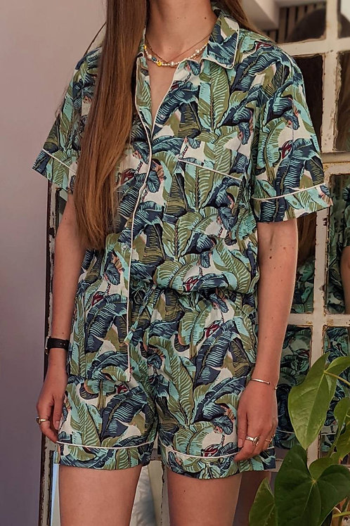 Gladys Leaf Cotton Pyjamas