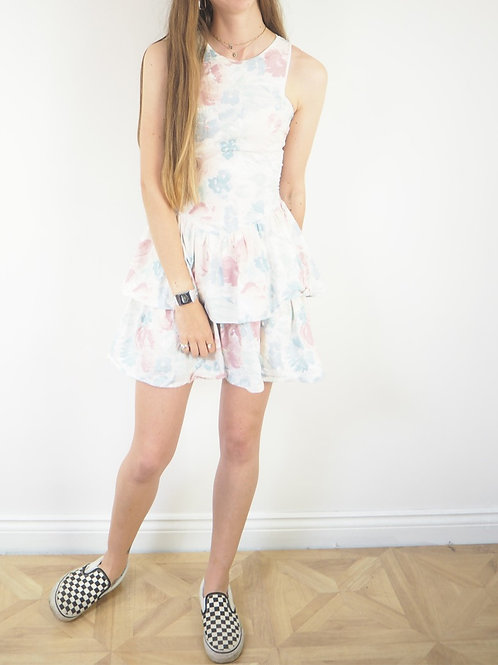 Vintage 80's Floral RaRa Dress - 8UK