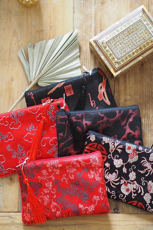 Ornate Silky Pouch