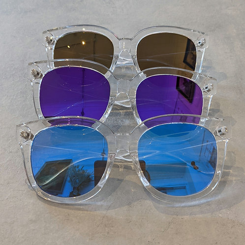 Large Clear Frame Sunglasses