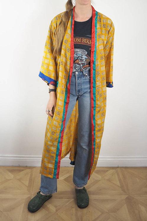 Fair Trade Golden Yellow Sari Robe - 8-18UK