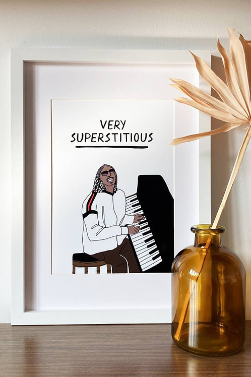 Very Superstitious A4 Print