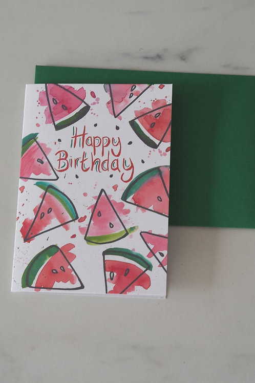 Watermelon Birthday Card
