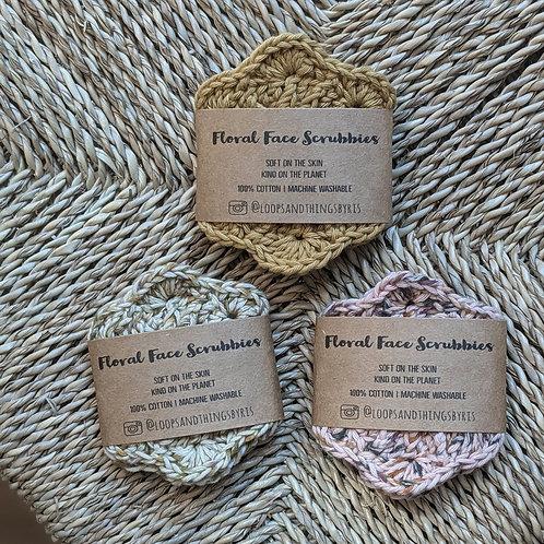 2 Pack of Crochet Face Scrubbies