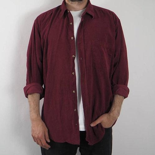 Vintage Berry Corduroy Shirt - L