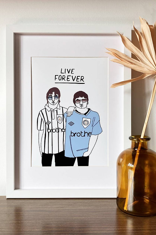 Live Forever A4 Print