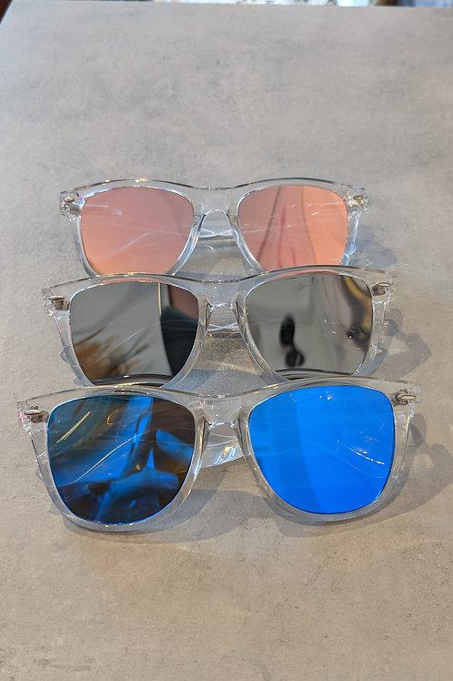 Clear Frame  Wayfarer Sunglasses