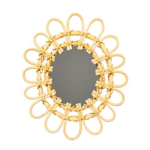 Mini Rattan Oval Mirror