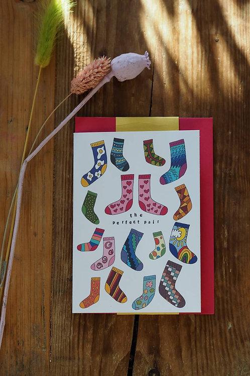 Perfect Pair Socks Card