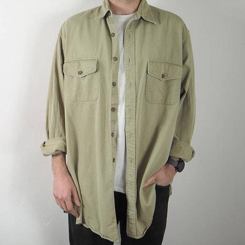 Vintage Sand Cotton Shirt - XXL