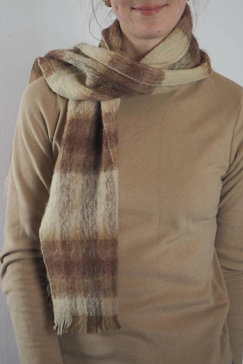 Vintage Brown Fluffy Scarf