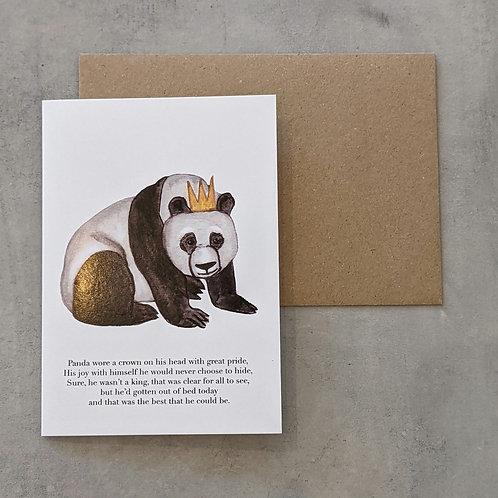 King Panda Card