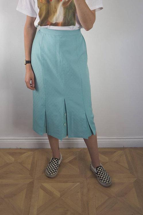 Vintage Turquoise Midi Skirt - 10UK