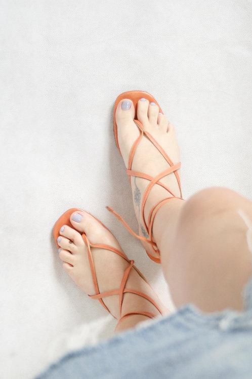 Vintage Pink Multi Strap Sandals