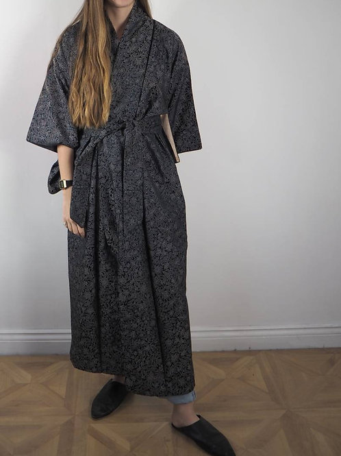 Vintage Navy Regal Kimono - 8-18UK