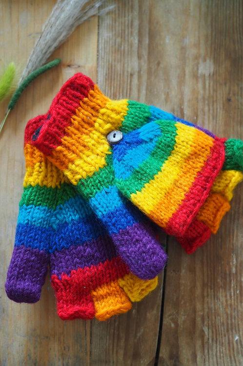 Fairtrade Rainbow Knitted Mittens
