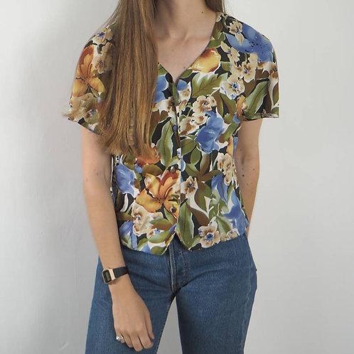 Vintage Floral R Blouse - 16UK