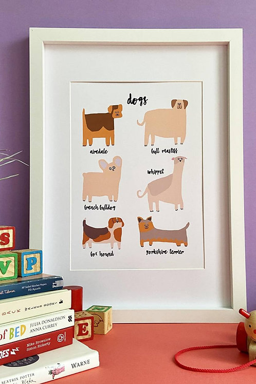Dogs A4 Print