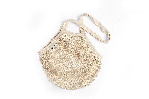 Organic Long Handled String Bag - Natural