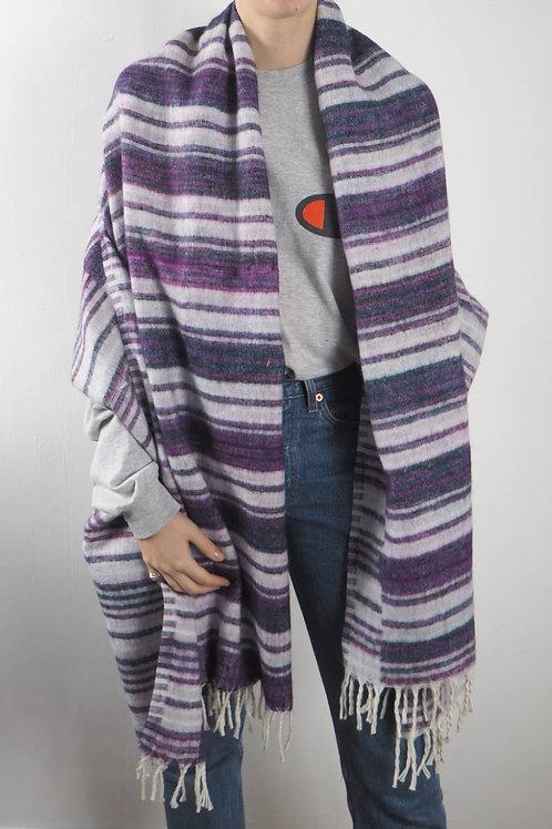 Lilac Striped Shawl Blanket
