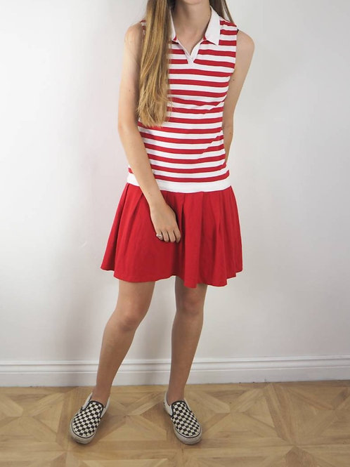 Vintage Red and White Tennis Dress - 8UK