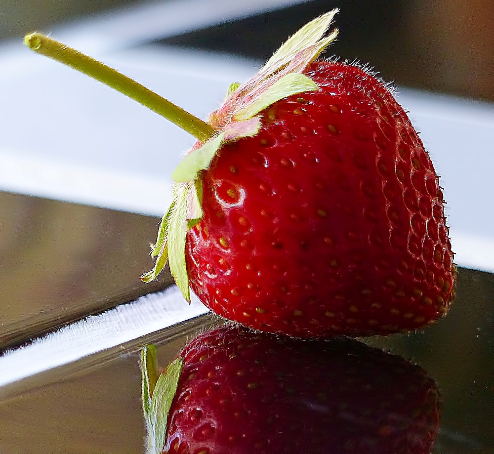 Strawberry on Tile