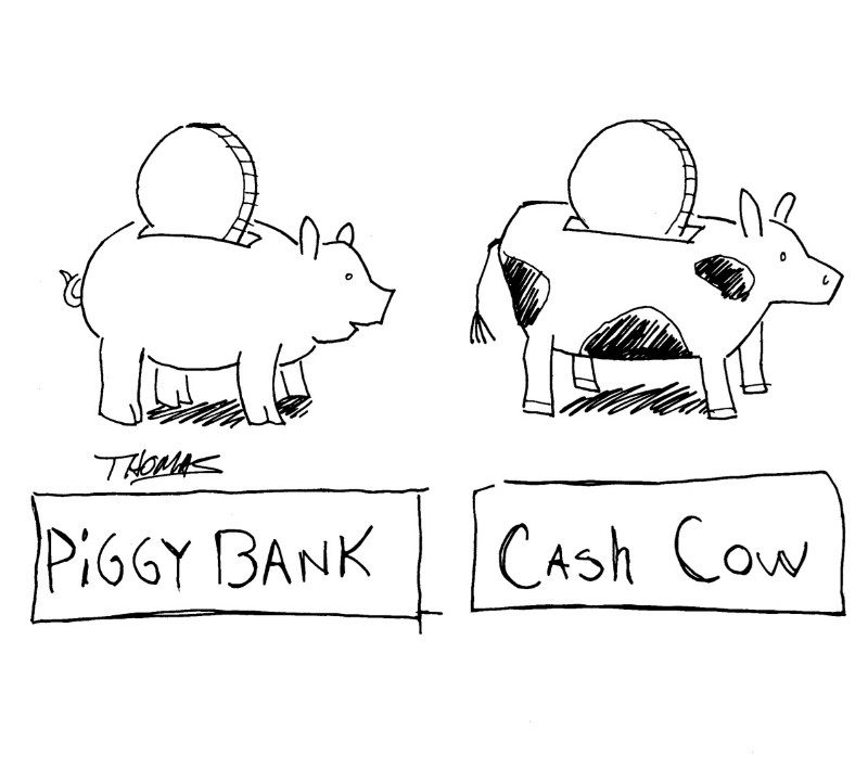 Piggy Bank v Cash Cow