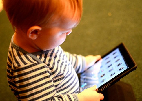 Baby on Tablet