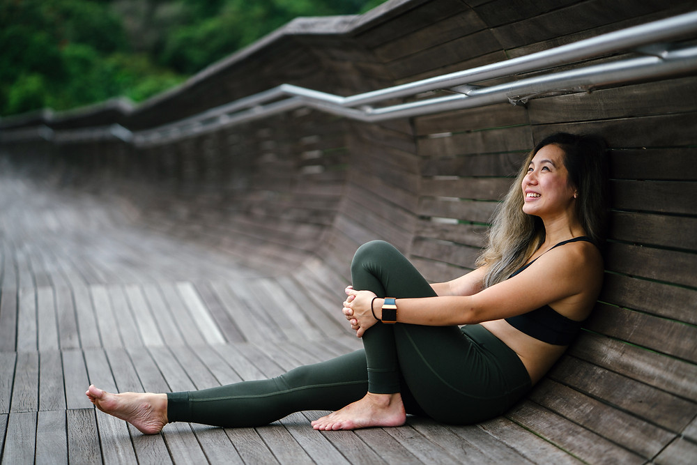 Jogger with Fitbit