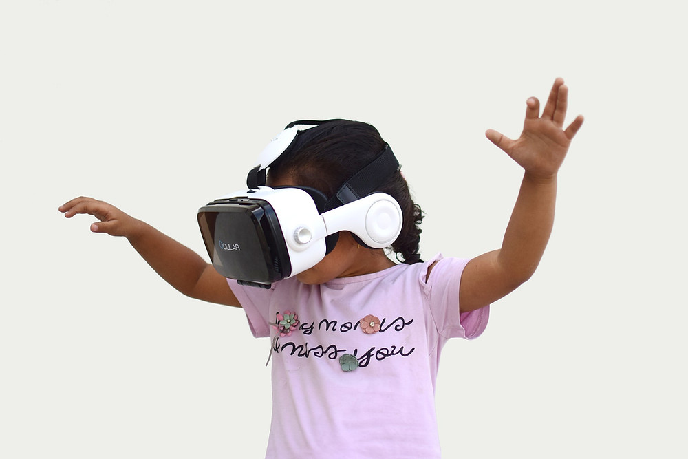 Kid with VR Headset