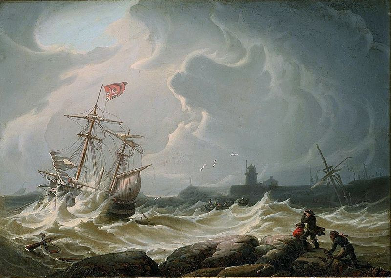 Ship on Rough Waters