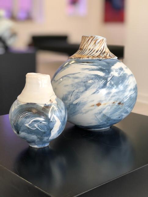 Blå serie af klodekrukker