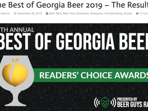 Voted BEST NEW BREWERY IN GEORGIA!