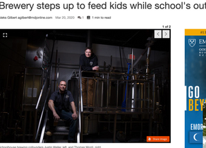 Brewery Steps Up to Feed (MDJ Article)