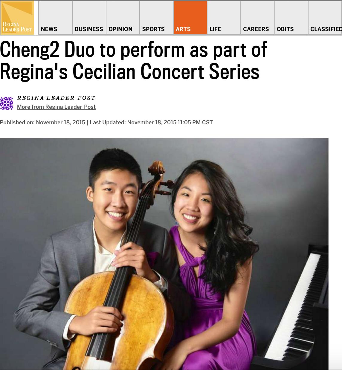 Regina's Cecilian Concert Series