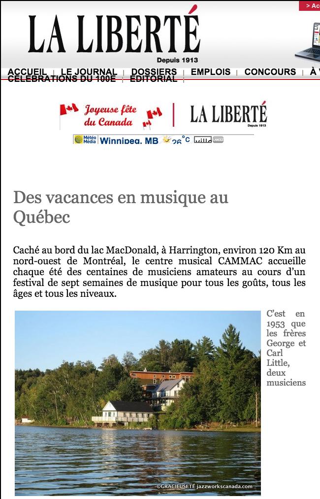 Des vacances en musique au Québec