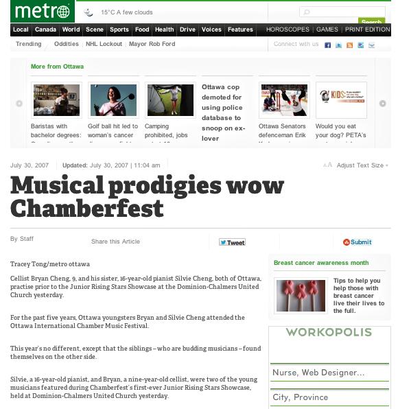 Musical prodigies wow Chamberfest