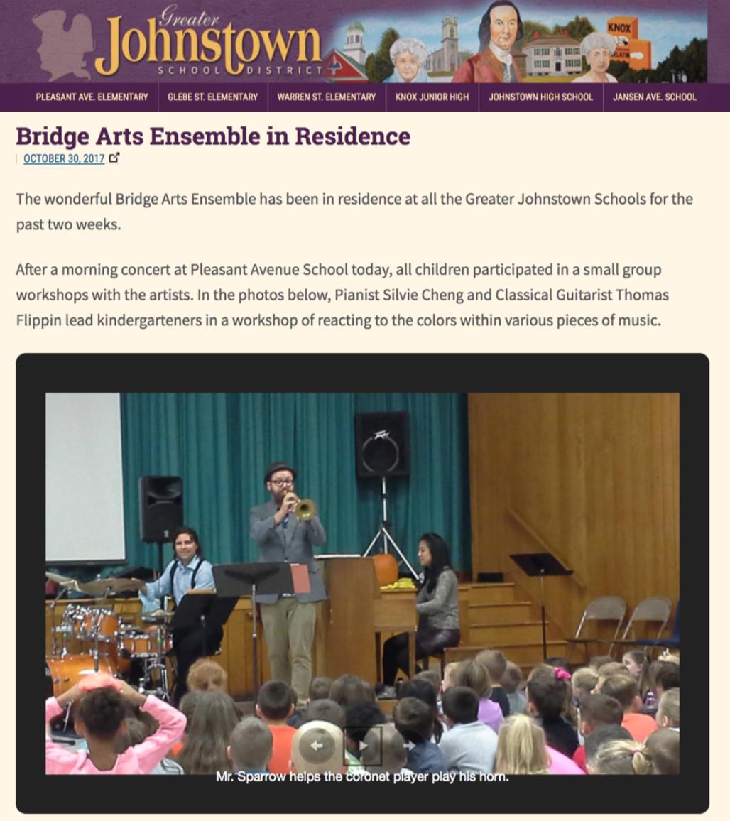 Bridge Arts Ensemble in Residence