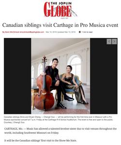 Canadian siblings visit Carthage